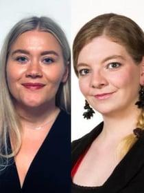 Erica Borglund och Femke van der Zeijden