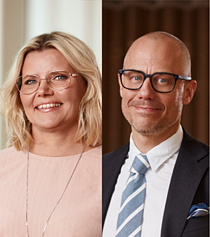 Ulrika Lundh Eriksson och Oscar Warglo