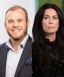 Andreas Stranne och Angelica Persson Ewö
