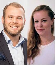 Andreas Stranne och Emelie Samuelsson