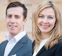 Johan Ahlqvist och Julia Jonsson