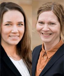 Christina Aronson och Nadja Lindberg