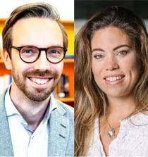 Constantina Boberg och Mikael Gustafsson Brauner
