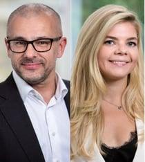 Peter Lindstrand och Hanna Tsikhanava