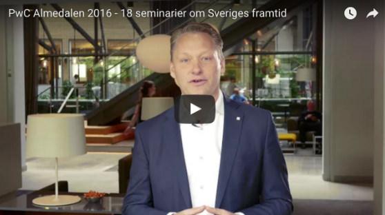 PwC Almedalen 2016 - 18 seminarier