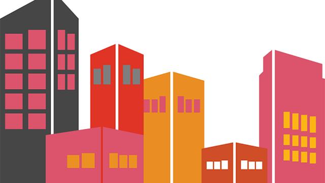 Illustration över fastigheter