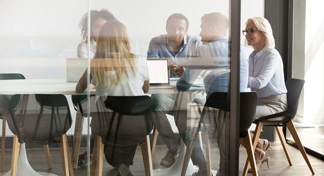 Människor kontor möte