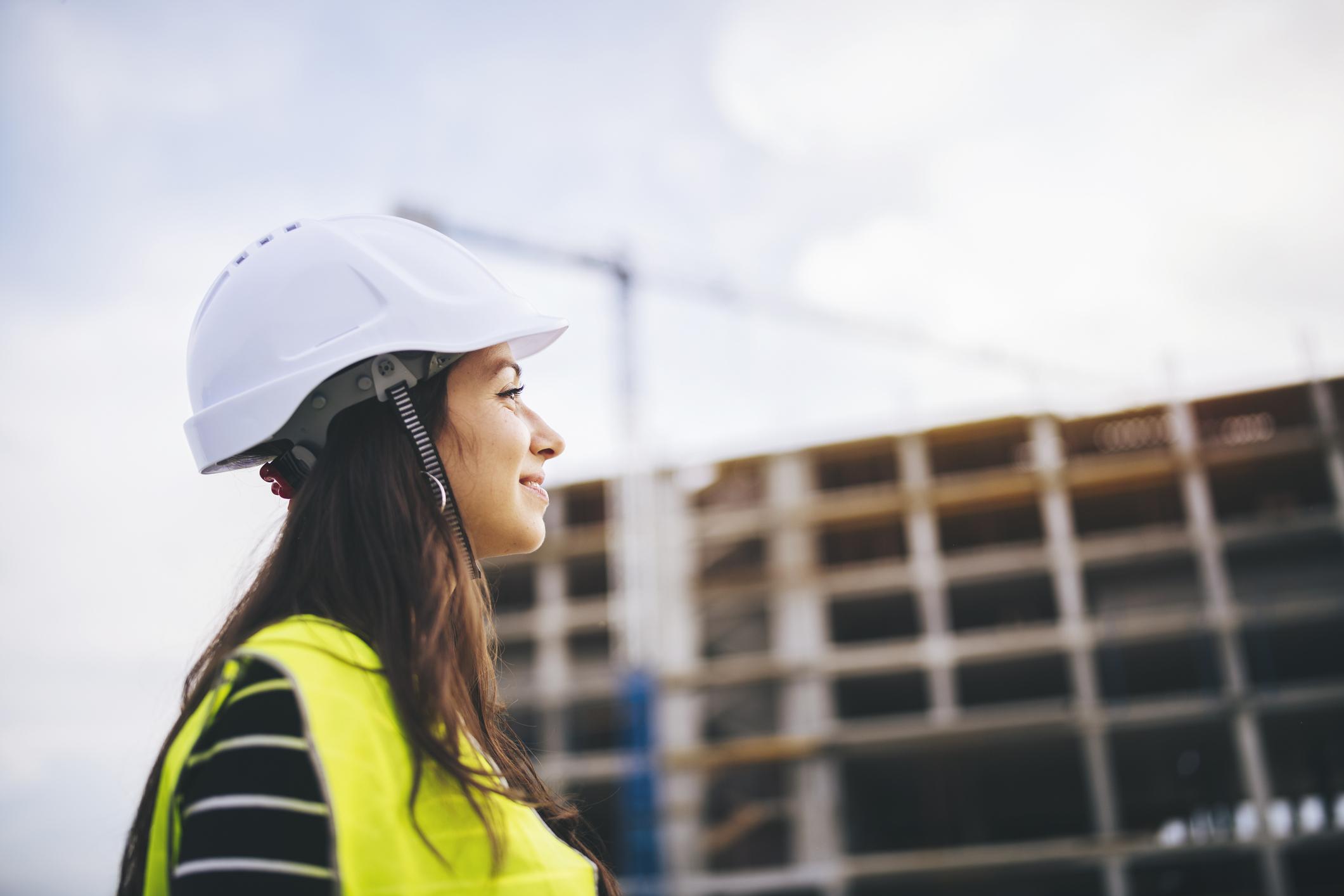 Kvinna byggbranschen