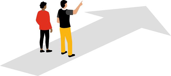 Illustration tydlighet och riktning