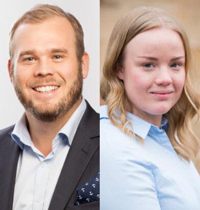 Andreas Stranne och Maria Wettersten