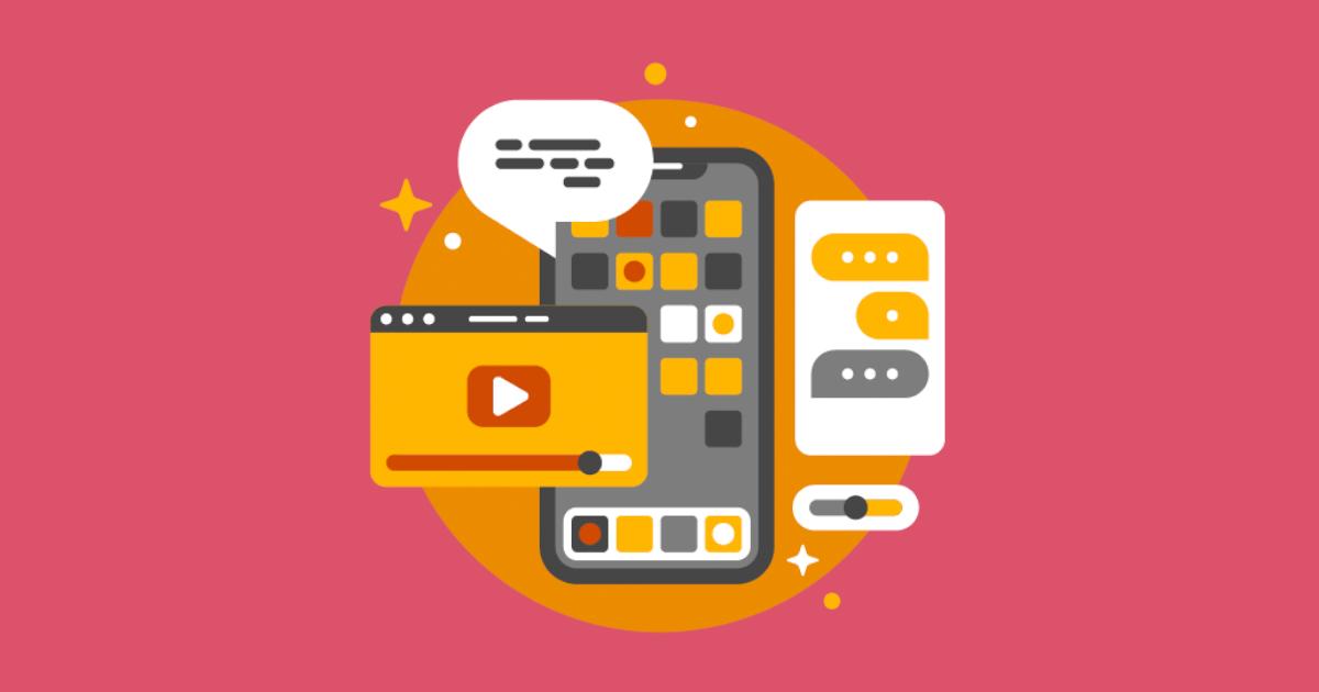 Illustration på smartphone