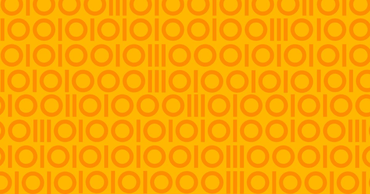 Gult och orange mönster